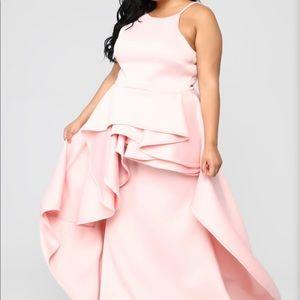 Pink Fashion Nova Gown